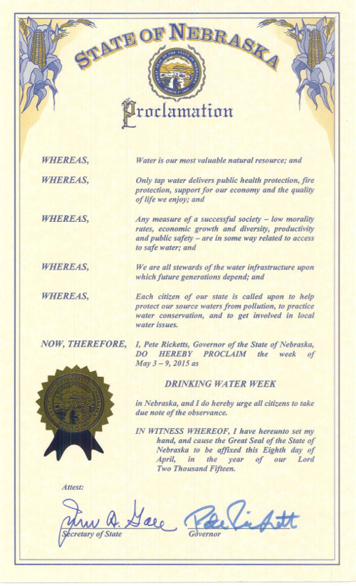 Drinking Water Week proclamation